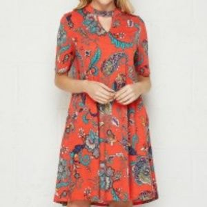 NWT HONEYME BOHO PAISLEY PRINT DRESS